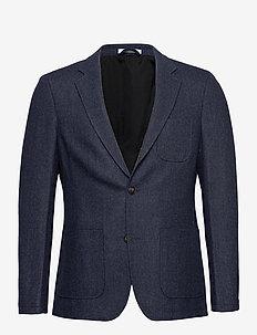 Manhatten Herringbone Blazer - enkeltkneppede blazere - dark navy/black