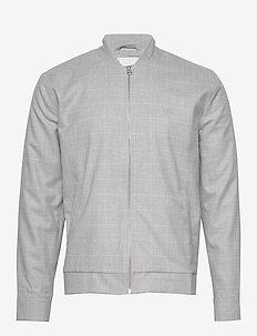 Como Check Bomber Jacket - bomber jackets - grey melange