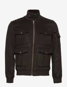 Morrison Wool Bomber Jacket - bomberjackor - dark brown