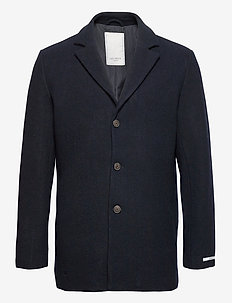 Montgomery Wool Coat - uldfrakker - dark navy