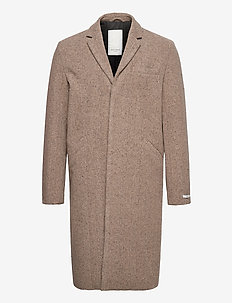 Monroe Wool Coat - villakangastakit - dark sand/dark brown
