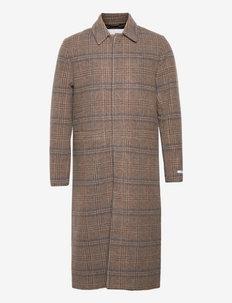 Miguel Wool Coat - manteaux de laine - dark sand/mountain grey
