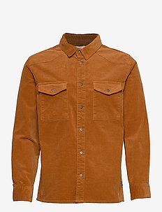 Graham HW Overshirt - hauts - rusty brown