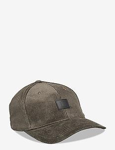 Piece Corduroy Baseball Cap - caps - deep forrest/black