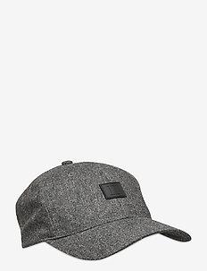 Como Wool Baseball Cap - kappen - light grey melange/black