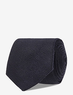 Stanton Wool Tie - ties - dark navy