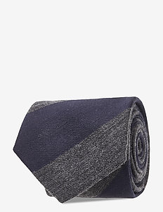 Stanton Stripe Tie - ties - dark navy
