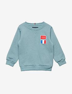 Flag Sweatshirt Kids - ARCTIC BLUE