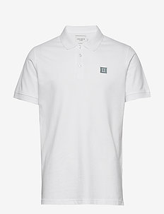 Piece Polo - short-sleeved polos - white/petrol