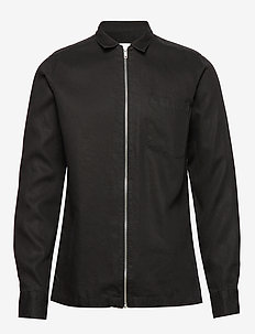 Jean Zipper Overshirt - 0101-BLACK