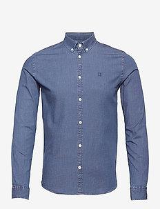 Harper Chambray Shirt - basic skjortor - dark navy