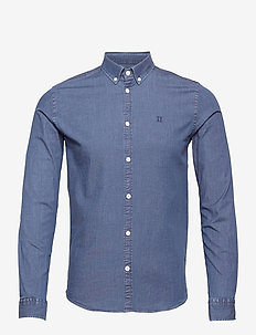 Harper Chambray Shirt - basic shirts - dark navy
