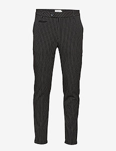 Como Pinstripe Suit Pants - BLACK/WHITE