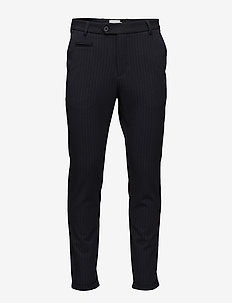 Como Pinstripe Suit Pants - puvunhousut - navy/light brown