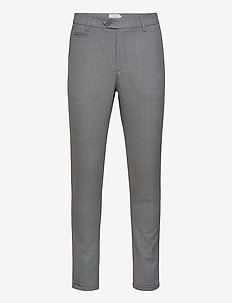 Como Herringbone Suit Pants - suitbukser - light grey melange/charcoal