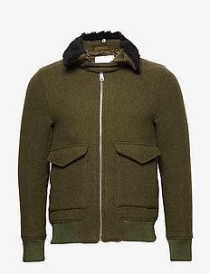 Planchett Bomber Jacket - DARK OLIVE GREEN