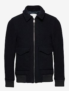 Planchett Bomber Jacket - wolljacken - navy