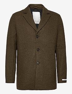 Montgomery Wool Coat - wool coats - turtle green