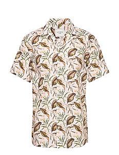 Resort Viscose Print Shirt Ss (Rose) (274.45 kr