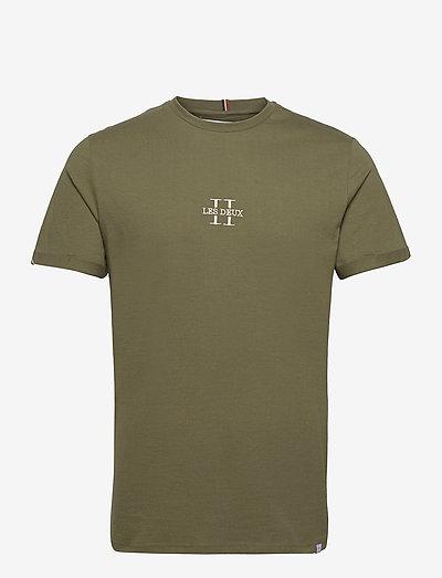 Les Deux II T-Shirt SMU - t-shirts basiques - olive night/gold
