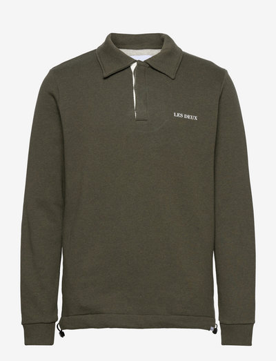 Nouveau Lens Rugby Sweatshirt - swetry - dark green melange/oyster gray