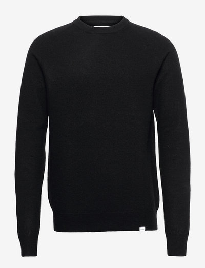 Ethan Wool Knit - okrągły dekolt - black