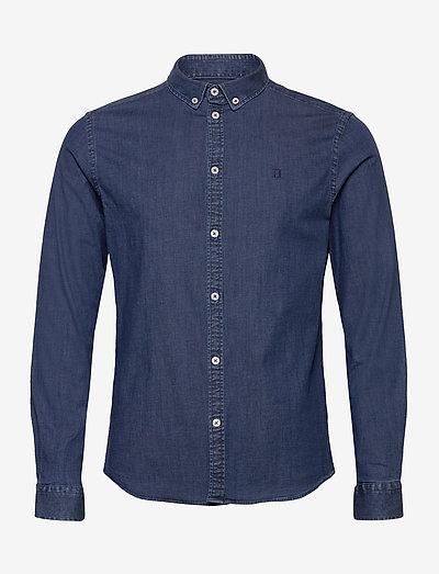 Harper Chambray Shirt - chemises basiques - dark navy
