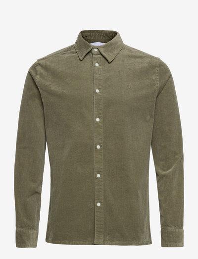 Felix HW Corduroy Shirt - podstawowe koszulki - lichen green