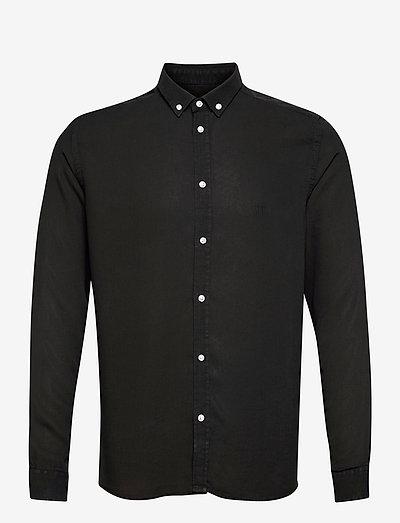 Laurent Tencel Dobby Shirt - chemises à carreaux - black