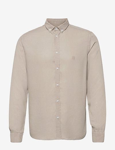 Laurent Tencel Dobby Shirt - koszule w kratkę - dark sand