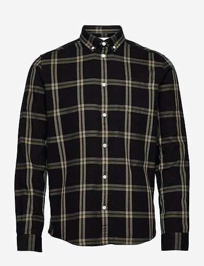 Jasper Check Flannel Shirt - chemises à carreaux - black/lichen green