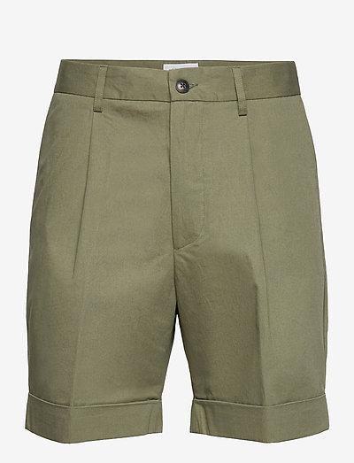 Preston Cotton Shorts - chinos shorts - lichen green