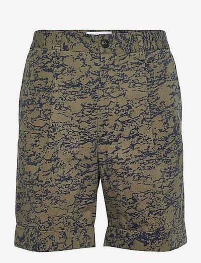 Preston AOP Cotton Shorts - chinos shorts - lichen green/denim blue
