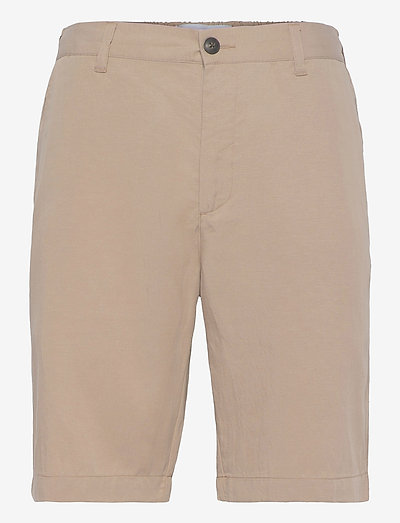 Pino Linen-Tencel Shorts - chino's shorts - dark sand