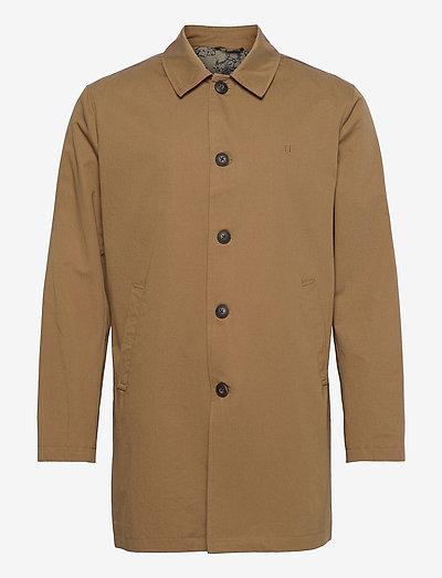 Marley Cotton Coat - wełniane płaszcze - stone brown