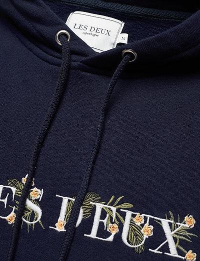 Les Deux Fleur-de-lis Hoodie- Bluzy Dark Navy/off White