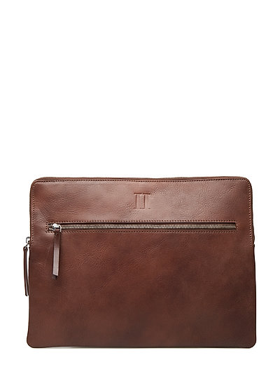 Leather Computer Sleeve - BROWN