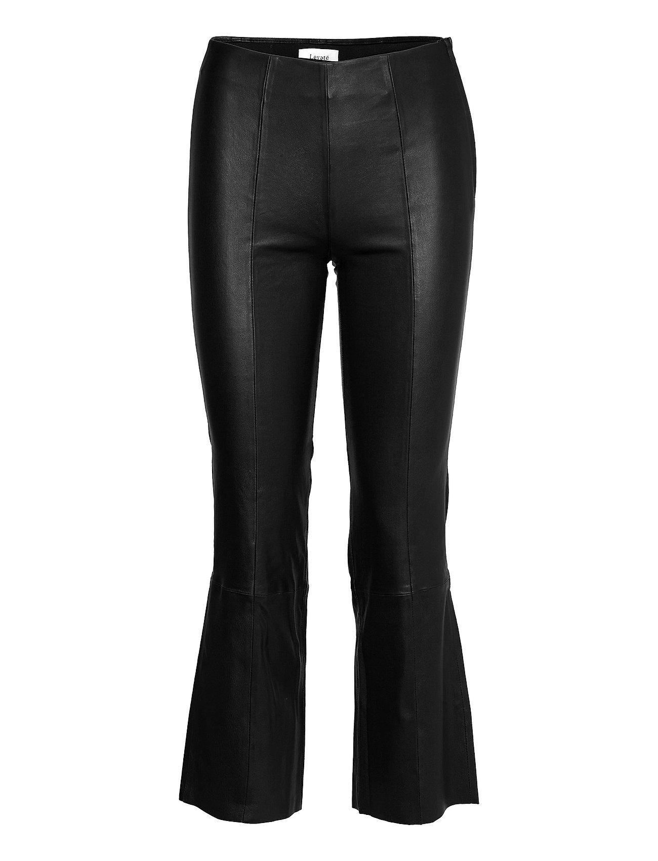 Lr-Gloria Leather Leggings/Bukser Sort Levete Room