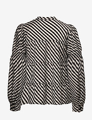 Levete Room - LR-KAMMA - long sleeved blouses - l911c - pumice stone combi - 1