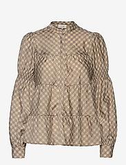 Levete Room - LR-KAMMA - long sleeved blouses - l311c - boulder combi - 0