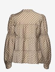 Levete Room - LR-KAMMA - long sleeved blouses - l311c - boulder combi - 1