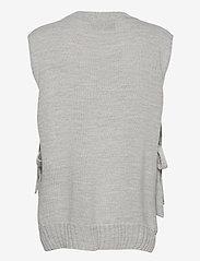 Levete Room - LR-GYMLA - knitted vests - l9955 - sky grey melange - 1