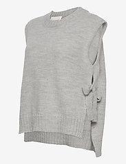 Levete Room - LR-GYMLA - knitted vests - l9955 - sky grey melange - 2