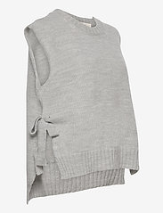 Levete Room - LR-GYMLA - knitted vests - l9955 - sky grey melange - 3