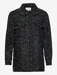 Levete Room - LR-KAMILLE - overshirts - l999c - black combi - 0