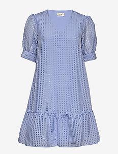 LR-IBEN - krótkie sukienki - l215c - chambray blue combi
