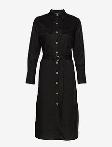 LR-ISADORA - skjortekjoler - l999 - black