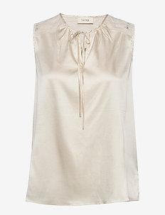 LR-DAKOTA - blouses zonder mouwen - l111 - antique white