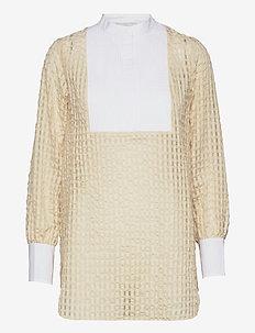 LR-NITA - langærmede skjorter - l111c - antique white combi