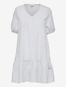 LR-NINA - summer dresses - l201c - heather bue combi